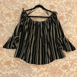 Off the shoulder peasant blouse